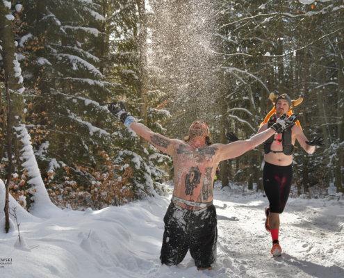 Extreme Wolf 2021 winter run, zimowy bieg na gołą klatę,