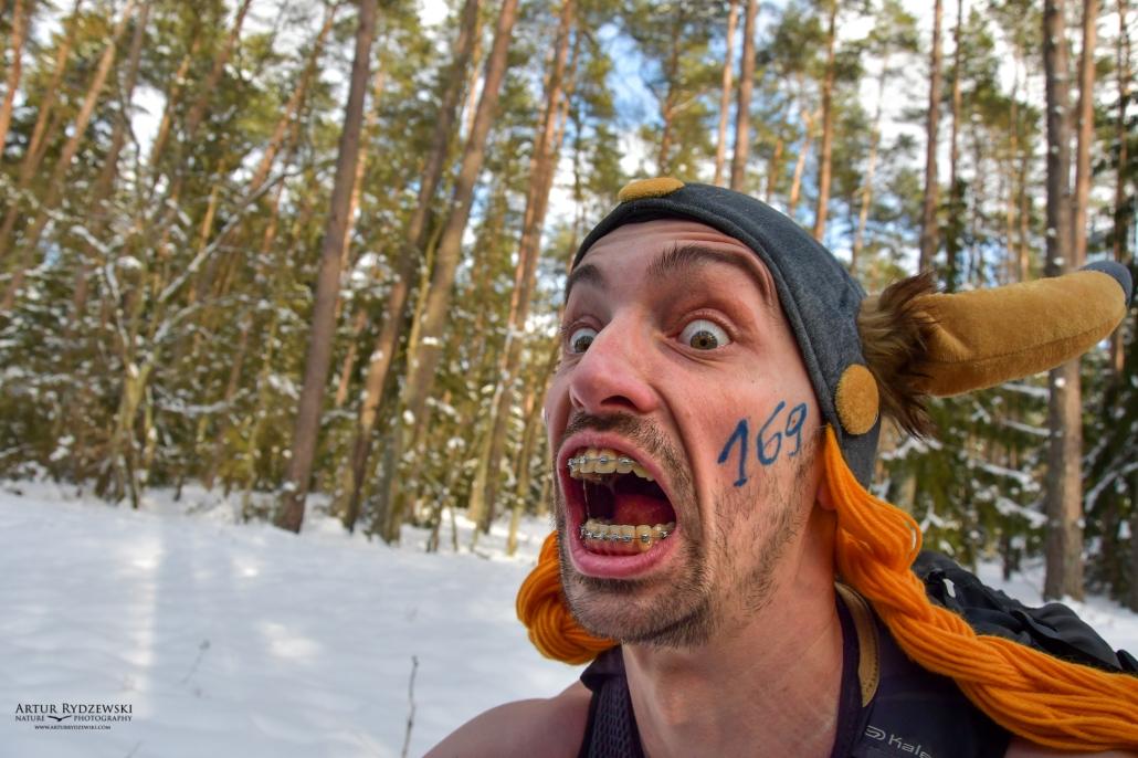 Extreme Wolf 2021 zimowy bieg na gołą klatę, rezerwat świdwie, wiking