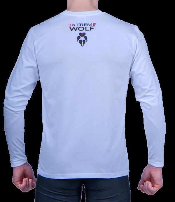 Koszulka do biegania z długim rękawem Extreme Wolf sport tył logo